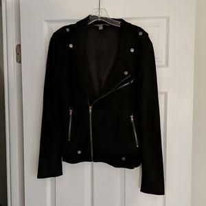 Market & Spruce Faux Suede Moto Jacket